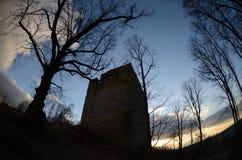 废墟城堡straufhain 免版税库存照片