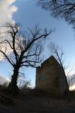 废墟城堡straufhain 免版税图库摄影