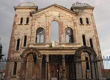 废墟大犹太教堂在爱迪尔内土耳其 库存照片