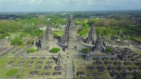 废墟巴兰班南寺庙美好的空中英尺长度  股票录像