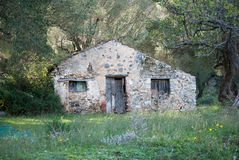 废墟意大利人房子 免版税库存图片