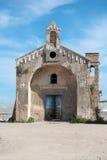 废墟教会 库存图片