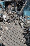 废墟木房子 免版税库存照片