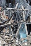 废墟木房子 免版税库存图片