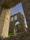废墟的修道院 免版税库存照片