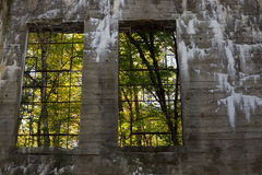 废墟的内部 库存照片