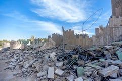 废墟的工厂 库存照片