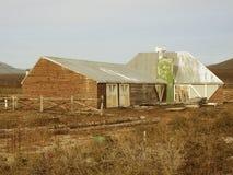 废墟的老农场。 库存图片
