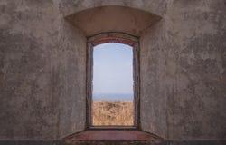 废墟的视窗 库存图片