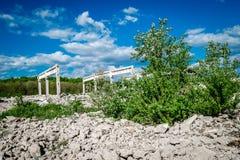 废墟的风景本质上 免版税库存图片