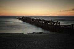 废墟码头 免版税库存图片