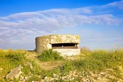 废墟第三十五火炮电池 免版税库存图片