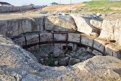 废墟第三十五火炮电池 库存照片