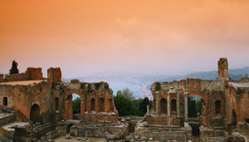 废墟西西里岛 库存照片