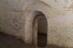 废墟里面堡垒Tarakanovskiy Dubno 乌克兰 免版税库存图片