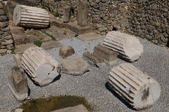 废墟陵墓,七世界奇迹之一;博德鲁姆 图库摄影