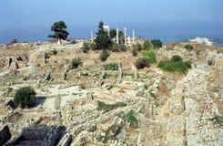 废墟,朱拜勒,黎巴嫩 库存照片
