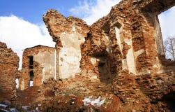 废墟,白俄罗斯 城堡17世纪 免版税库存照片
