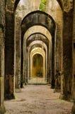 废墟,考古学,健神露, bacoli,意大利 库存图片