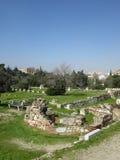 废墟,雅典,希腊 免版税库存图片