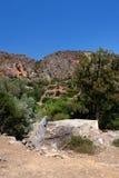 废墟, moutain, Lissos,克利特希腊 库存照片