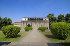 废墟, Shaniwar Wada Peshwas的1732年和位子建立的历史设防直到1818 免版税库存照片