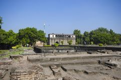 废墟, Shaniwar Wada Peshwas的1732年和位子建立的历史设防直到1818 库存图片