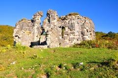 废墟Bzyb寺庙 阿布哈兹 免版税库存照片