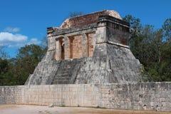 废墟chichen itza尤加坦墨西哥 图库摄影