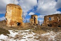 废墟Golshany,白俄罗斯 免版税库存图片