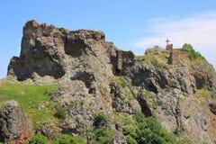 废墟Kojori堡垒(乔治亚) 库存照片