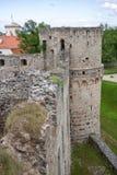 废墟Vedensky城堡 库存图片