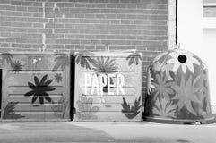 废字纸篓回收 库存照片