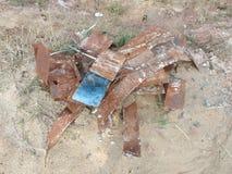 废弃从金属工作的切口 库存照片