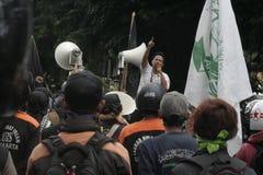 废弃物抗议警察独立小分队88反恐怖在彻斯特印度尼西亚 库存图片