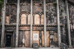 废弃的火车站 免版税库存图片