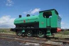 废弃的铁路引擎 库存图片