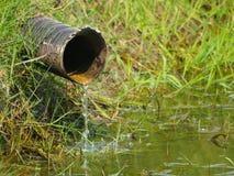 废水管排泄 库存图片