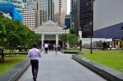 废物地方;中心商务区(CBD)新加坡 免版税图库摄影