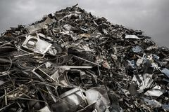 废物山  库存照片