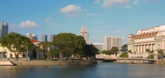 废物早晨视图城市的全景 免版税库存图片