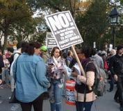 废物法西斯主义,华盛顿广场公园, NYC, NY,美国 图库摄影