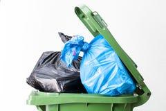 废物箱上面 免版税库存照片
