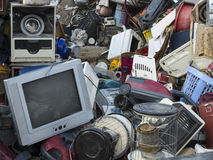 废物,老技术转储 图库摄影