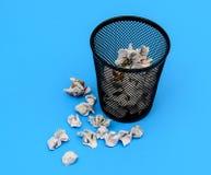 废纸篓 免版税库存图片