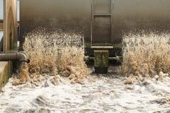 废水处理厂。 免版税库存照片