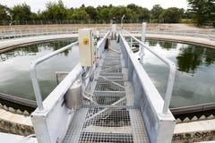 废水处理植物储水箱 免版税库存图片