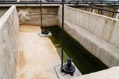 废水处理植物 免版税图库摄影