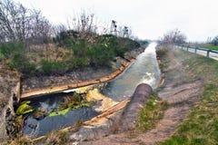 废水管 免版税库存照片