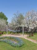 度假区在春天庭院 免版税库存图片